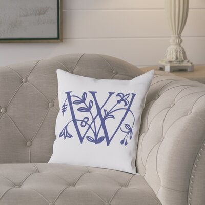 Attina Personalized Floral Initial Throw Pillow Letter: W