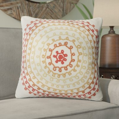 Ira Ombre Threads Outdoor Throw Pillow Size: 20 x 20, Color: White/Red