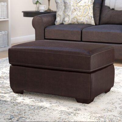 Bacall Ottoman Upholstery: Chestnut