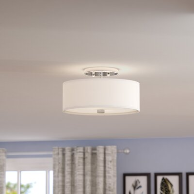 Bennet 2-Light Semi Flush Mount Size: 7.5 H x 13 W x 13 D