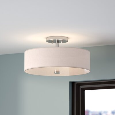 Alina 3-Light Semi Flush Mount Finish: Brushed Nickel