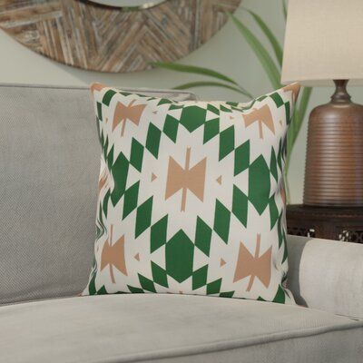 Soluri Geometric Outdoor Throw Pillow Size: 18 H x 18 W x 2 D, Color: Green