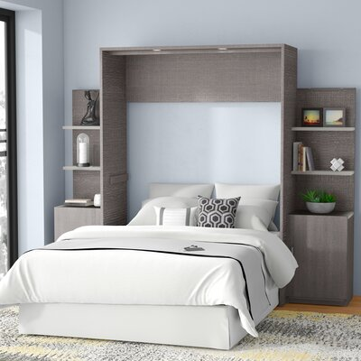 Medan Murphy Bed Size: Full, Color: Bark Gray