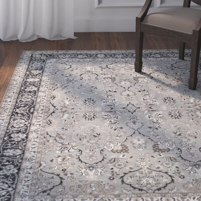 Adkisson Gray Area Rug Rug Size: Rectangle 67 x 96