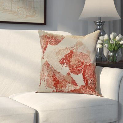 Miller Memories Outdoor Throw Pillow Size: 18 H x 18 W x 2 D, Color: Red