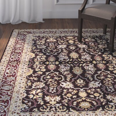 Adkisson Red Area Rug Rug Size: Rectangle 53 x 76