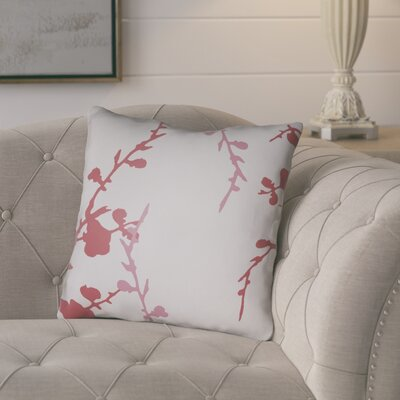 Teena Throw Pillow Size: 18 H x 18 W x 4 D, Color: Light Grey/Pink