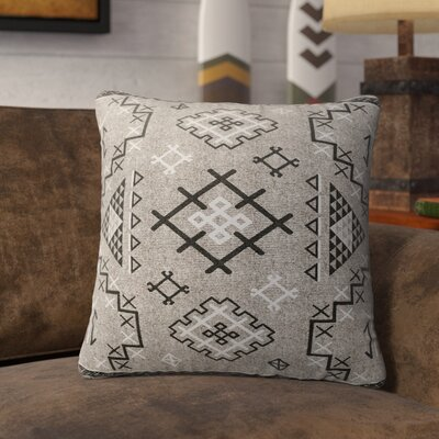 Cyrill Indoor/Outdoor Throw Pillow Size: 18 H x 18 W x 5 D, Color: Beige/ Black