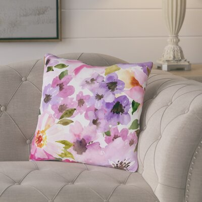 Daisey Face Throw Pillow Size: 18 H x 18 W x 3 D
