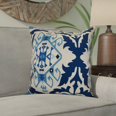 Soluri 6 Geometric Outdoor Throw Pillow Size: 18 H x 18 W x 2 D, Color: Navy Blue