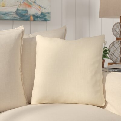 Maddison Linen Throw Pillow Color: Ivy
