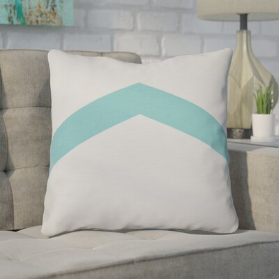 Down Throw Pillow Size: 26 H x 26 W, Color: Aqua