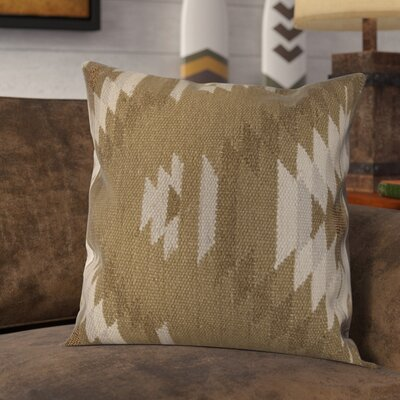 Gleneagle Throw Pillow Color: Tan