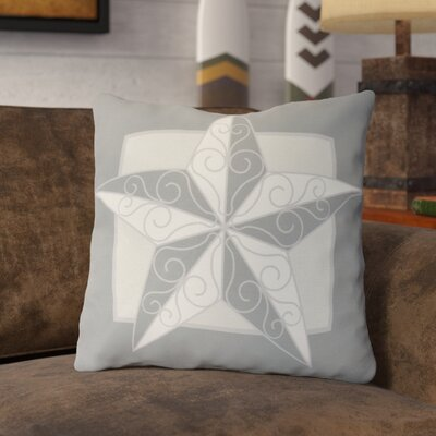 Meigs Night Star Throw Pillow Size: 16 H x 16 W, Color: Gray