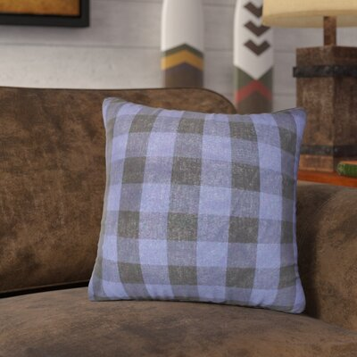 Ryan Check 100% Cotton Throw Pillow Color: Blue