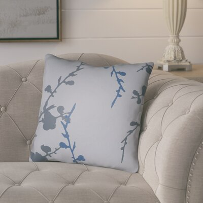 Teena Throw Pillow Size: 18 H x 18 W x 4 D, Color: Grey/Blue