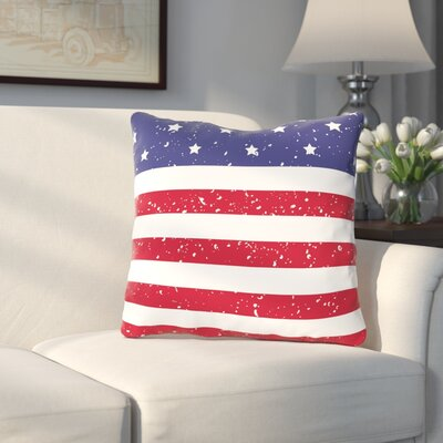 Villa Flag Throw Pillow Size: 16 H x 16 W x 3 D
