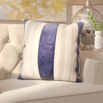 Barret Throw Pillow Color: Navy