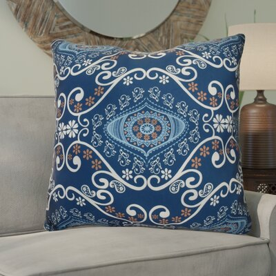 Soluri Illuminate Geometric Euro Pillow Color: Navy Blue