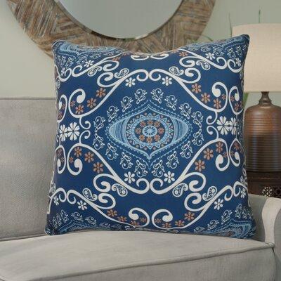 Soluri Illuminate Geometric Euro Pillow Color: Navy Blue