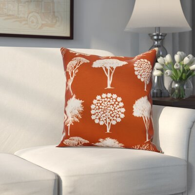 Miller Field of Trees Floral Outdoor Throw Pillow Size: 20 H x 20 W x 2 D, Color: Rust