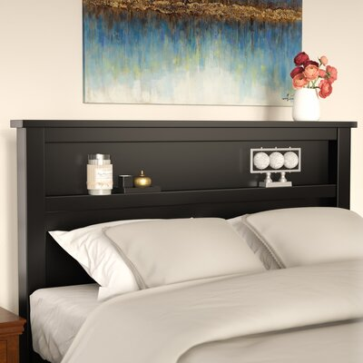 Loughran Bookcase Headboard Size: Queen, Color: Black