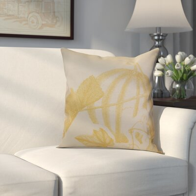 Miller Stagecoach Floral Outdoor Throw Pillow Size: 18 H x 18 W x 2 D, Color: Gold