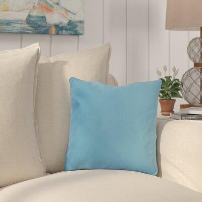 Mayson Outdoor Throw Pillow Color: Sky Blue