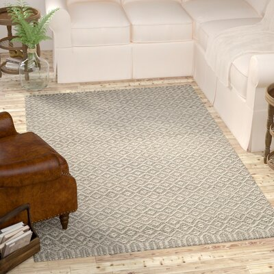 Leesport Hand Woven Gray Area Rug Rug Size: Rectangle 9 x 12