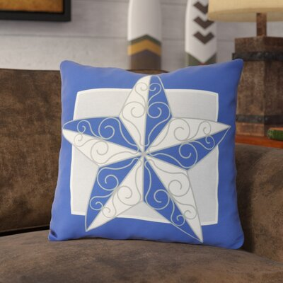 Meigs Night Star Throw Pillow Size: 16 H x 16 W, Color: Royal Blue