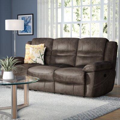 Mae Reclining Sofa Upholstery: Ash