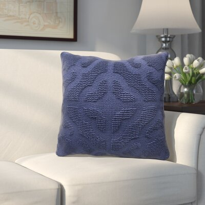 Oak Lane Mosaic Throw Pillow Color: Indigo