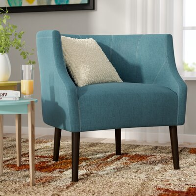 Crosby Barrel Chair Upholstery: Dark Teal