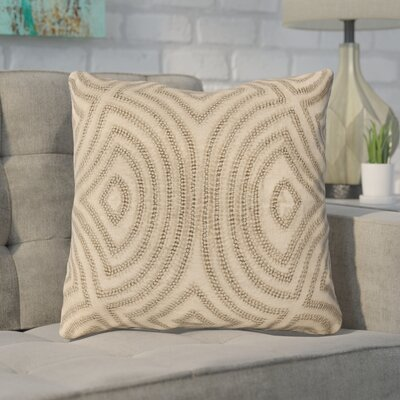 Taylor Linen Throw Pillow Size: 20 H x 20 W x 4 D, Color: Beige, Filler: Polyester