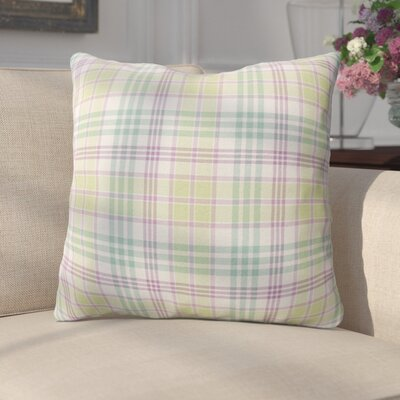 Turene Plaid Indoor/Outdoor Throw Pillow Size: 18 H x 18 W x 4 D