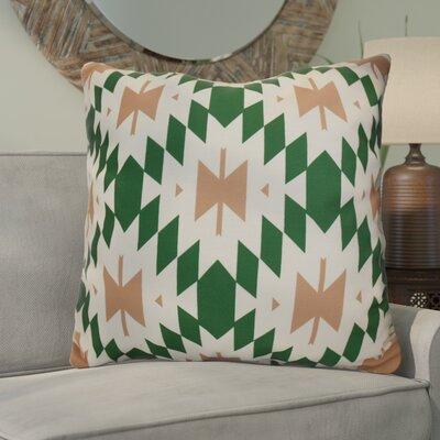 Soluri Geometric Euro Pillow Color: Green