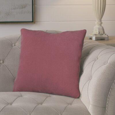 Epineux Throw Pillow Color: Merlot
