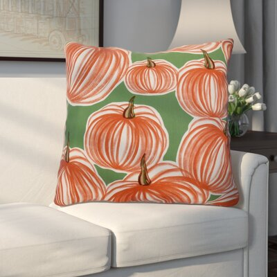 Miller Pumpkins-A-Plenty Geometric Euro Pillow Color: Green