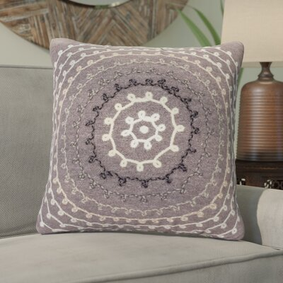 Ira Ombre Threads Outdoor Throw Pillow Size: 20 x 20, Color: Grey