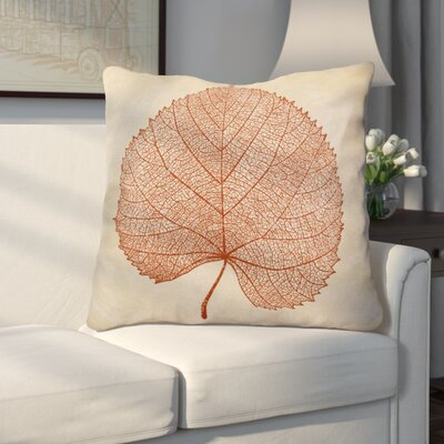 Miller Leaf Study Floral Euro Pillow Color: Rust