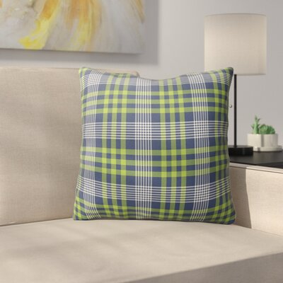 Zoelle Plaid Indoor/Outdoor Throw Pillow Size: 18 H x 18 W x 4 D
