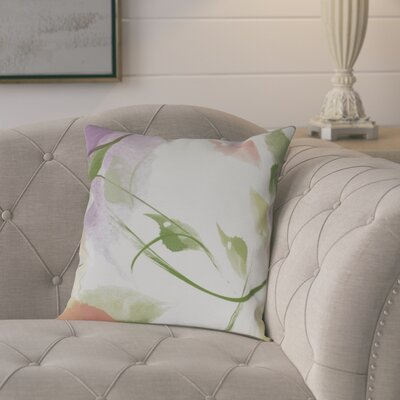 Roscoe Windy Floral Throw Pillow Size: 26 H x 26 W, Color: Coral