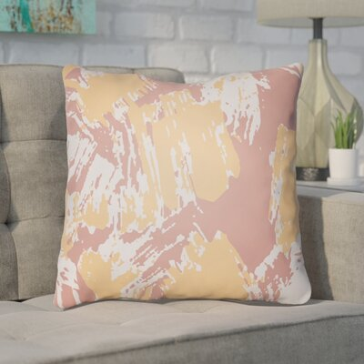 Konnor Throw Pillow Size: 18 H x 18 W x 4 D, Color: Sherbert