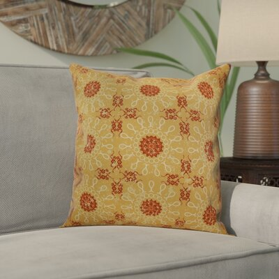 Wellington Tile Geometric Throw Pillow Size: 18 H x 18 W x 2 D, Color: Gold