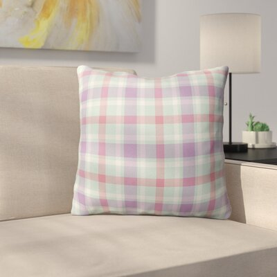Malvina Plaid Indoor/Outdoor Throw Pillow Size: 26 H x 26 W x 4 D