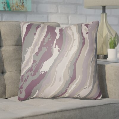 Konnor Throw Pillow Size: 20 H x 20 W x 4 D, Color: Purple