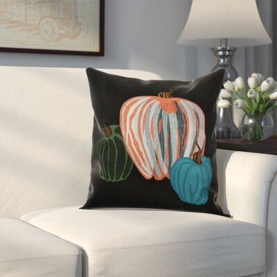 Miller Pumpkin Spice Geometric Throw Pillow Size: 18 H x 18 W x 2 D, Color: Black