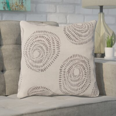 Maryanne 100% Cotton Throw Pillow Size: 18 H x 18 W x 4 D, Color: Gray