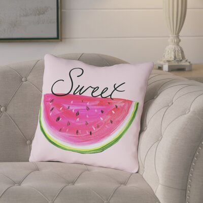 Castillo Sweet Watermelon Throw Pillow Size: 18 H x 18 W x 3 D