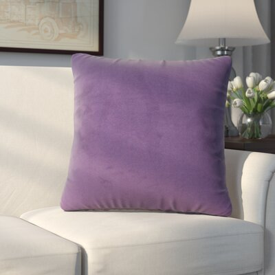 Abshire Throw Pillow Size: 16 H x 16 W x 8 D, Color: Bella Eggplant